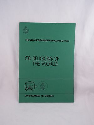Boys' Brigade C8 Religions Of The World Officers Supplement Booklet Boy's B.b.