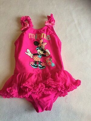 Girls Swimming Costume 12-18 Months - Cute Disney  Swimsuit