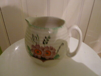 Cream with floral Print Jug. Used.