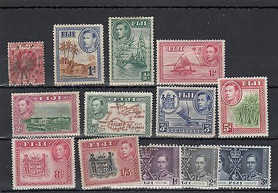 Fiji.13 -- E7/g6 Mounted Mint/used Stamps On Stockcard