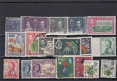 Fiji.18 -- G5/6/qe2 Mounted Mint/ Used Stamps On Stockcard
