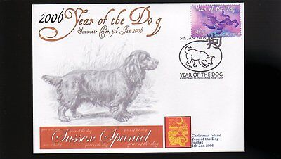 Sussex Spaniel 2006 C/i Year Of The Dog Stamp Cover 1
