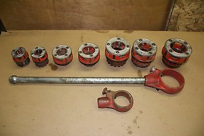 Ridgid Pipe Threader Handle Assembly 12-R&111-R & Dies: 2, 1.5, 1.25, 1, .75,.5""