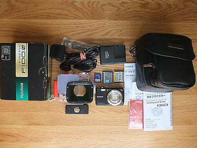 FujiFilm FinePix F100fd 12.0MP Camera & WP-FXF100 Underwater Housing Dive Bundle
