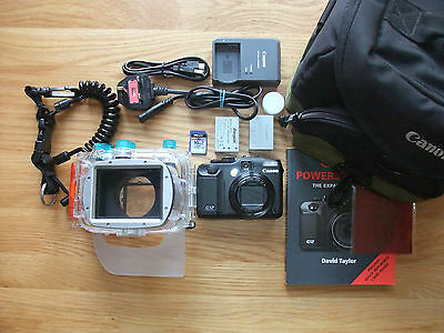 Canon Powershot G12 10MP Camera & WP-DC38 Underwater Housing Dive Bundle