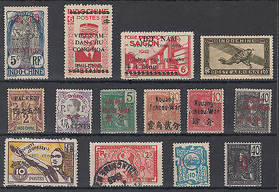 French Indo-China Mainly Mounted Mint Selection; see scans; Vietnam; overprints