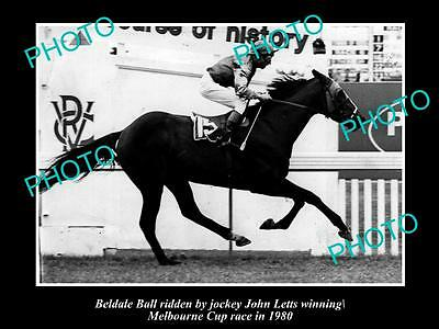 Old Large Horse Racing Photo Of Beldale Ball Winning The 1980 Melbourne Cup