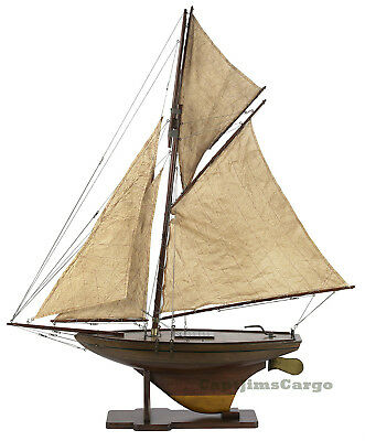 "Victorian Pond Yacht 37"" Model Wooden Sailboat Authentic Models Boat"
