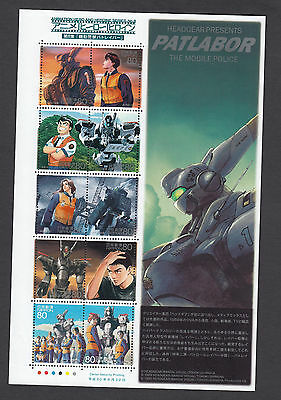 Japan 2008 Heroes and Heroines of Animation. Patlobor, The Mobile Police MS MNH