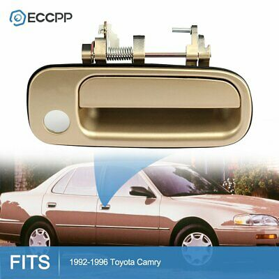 1Pc Door Handle for 92-96 Toyota Camry Beige Exterior Front Right Side