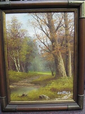 John William Cantrell Oil on Canvas Painting Signed and Framed