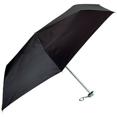 Super Mini Compact Weather Umbrella Black 40in Small Purse Tote Briefcase Sturdy