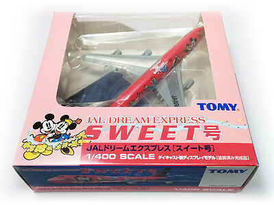 Dragon Wings TOMY 1:400 Japan Airlines JAL Boeing 747-400 Dream Express SWEET