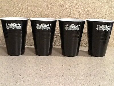Lot of 4 NEW Captain Morgan Hard Plastic Cups Rum