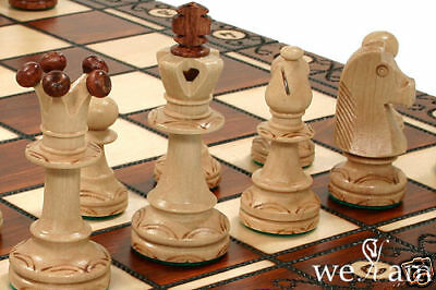 Wooden Chess Set Handcrafted  Board Wood- Weighted
