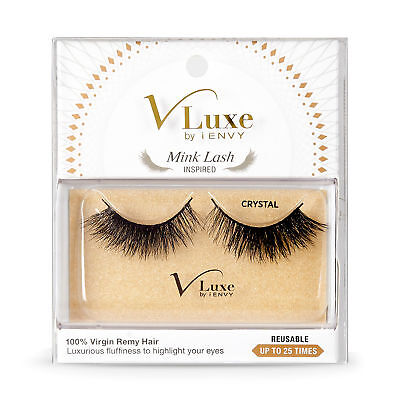 2179e9b896a V-Luxe By Kiss I Envy Virgin Remy Tapered End Mink Eyelashes - Vlef02  Crystal