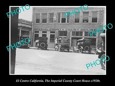 Old Large Historic Photo El Centro California, Imperial County Court House 1920