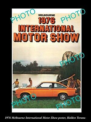 Old Large Historic Photo Of Melbourne 1979 Motor Show Poster, Holden Torana