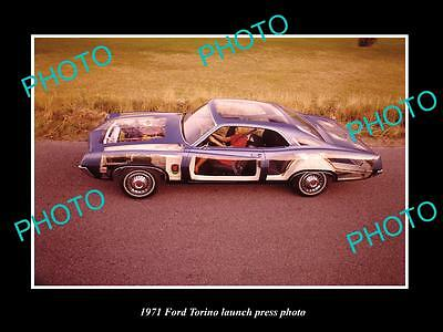 Old Large Historic Photo Of 1971 Ford Torino Car Launch Press Photo 2