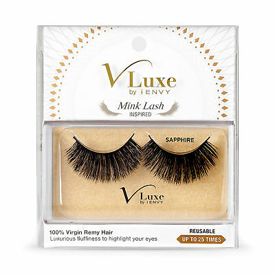 11d04fcdbb4 V-Luxe By Kiss I Envy Virgin Remy Tapered End Mink Eyelashes - Vlef04  Sapphire