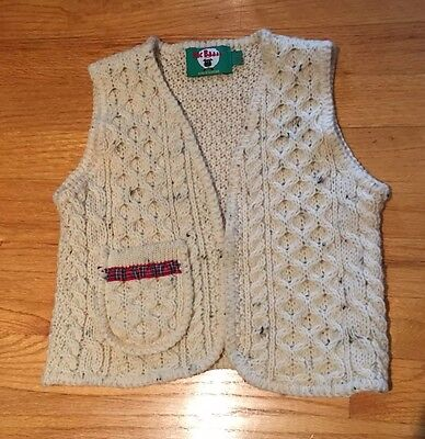 Toddler Wool Vest Christmas Trim 3-4 Years