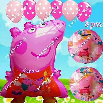 PEPPA PIG Foil Balloons Barn Animals Decor Shower Birthday Party Supplies lot L