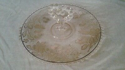 Sterling Silver Overlay Elegant Glass Candlewick Plate