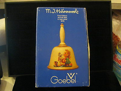 Goebel Hummel 1978 First Edition Annual Bell in Bas-Relief, Box