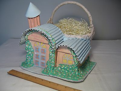 """Unique Quality Wicker """"bunny House"""" Easter Basket - """"rabbit's Lane Mansion"""""""