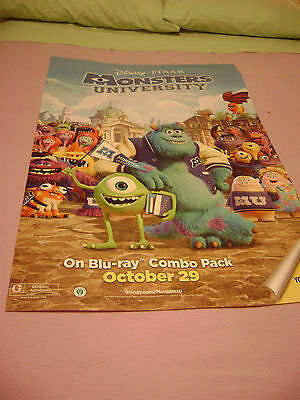 Monsters University movie promo poster-now lower priced