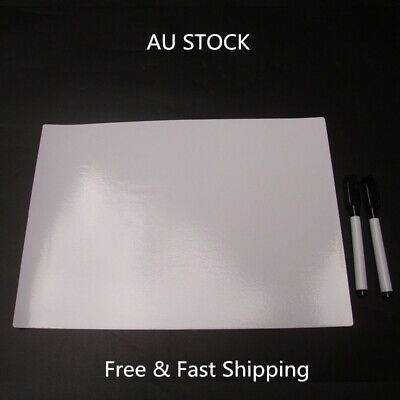 A4 Dry Erase Flexible Magnetic Whiteboard/Message board/Memo Pad & 2 Markers