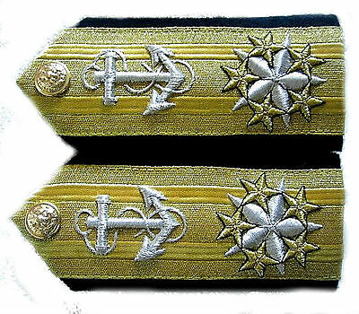 New Us Navy Six Stars Admiral Rank Cp Made Hi Quality Shoulder Boards Collection
