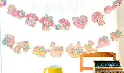 Little Twin Star,My Melody party Accessory Banner Bunting Birthday Garland TS74