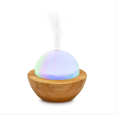 SpaRoom Essential Oil AromaGlobe Glass Diffuser Bamboo Aroma Air Purifier