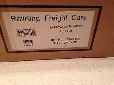 MTH RailKing 30-74150 Pittsburgh Kennywood Park Phantom Box Car NIB O Gauge 2003