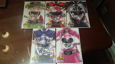 Mighty Morphin Power Rangers #0 Cover A B C D E Variant Set Mmpr Boom Higgins