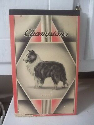 Vintage Champions Unused Collie Dog Notebook Composition Estate