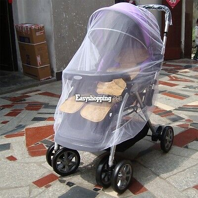 Cute Infants Baby Stroller Pushchair Mosquito Insect Net Safe Mesh Buggy Cover
