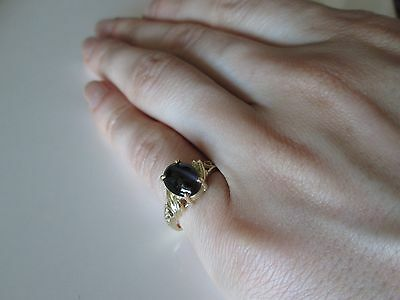 NEW 14 K Gold Women's Band Ring with 2 Carat Sillimanite stone, size 5.5