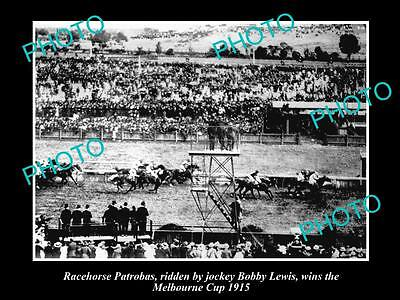 Old Historic Horse Racing Photo Of Patrobas Winning The 1915 Melbourne Cup