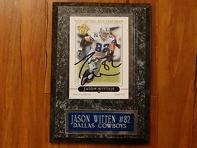 Dallas Cowboy Jason Witten Autographed Card. Topps Football 50th Anniversary