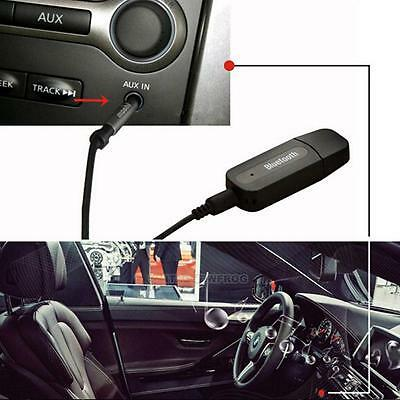 1X USB Bluetooth Audio Receiver Adapter Wireless Music 3.5mm AUX Dongle Car A2DP