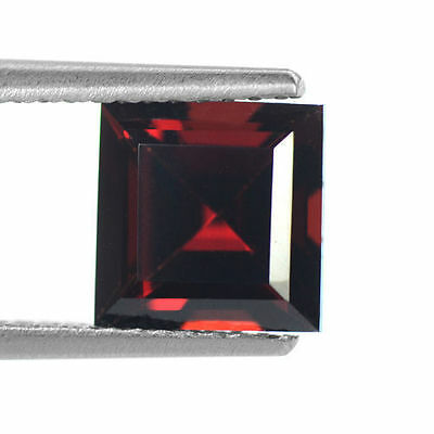 2.32 cts Natural Top Pyrope Red Garnet Loose Gemstone Square Cut Mozambique 7mm
