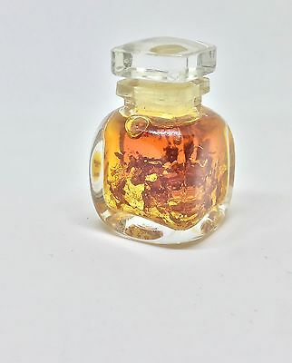 Vintage Bottle Of L'Air D'Or Perfume 5oz With 23kt Gold Flakes Free Shipping