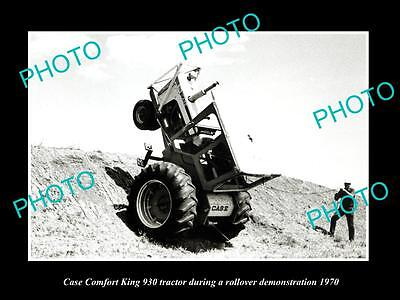 Old Large Historic Photo Of Case 930 Comfort King Tractor 1970 Test Photo