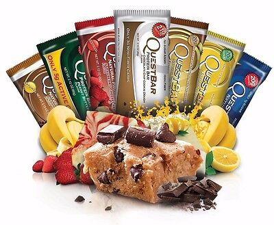 Quest Nutrition Protein Bars 12 Pack All Flavours BARGAIN (Nov & Dec 2016 Dated)