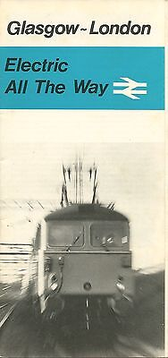 Glasgow-London Electric All the Way: British Rail brochure 1974