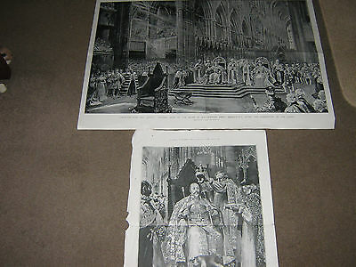 Two Original 1902 Prints From The  Graphic Special Coronation  Edward V11