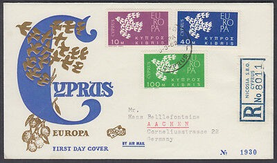 1962  Cyprus EUROPA / CEPT FDC to Aachen, Germany