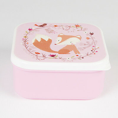 Sass and Belle Square Woodlands Fox Bento Snack Box Lunch School Picnic New